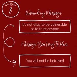 """it's not ok to be vulnerable"" wounding message 8"